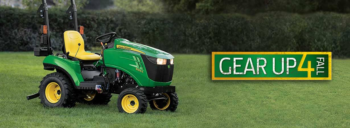 The John Deere 1023E Gear Up for Fall