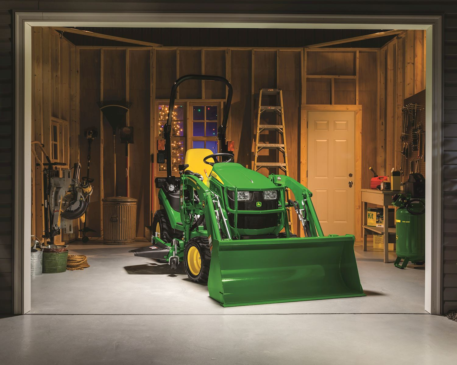 John Deere 1025R with the 120R Loader and 60D Mowing Deck