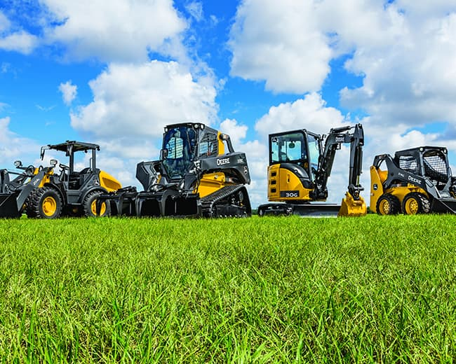 0% for 36 months on Compact Construction Equipment