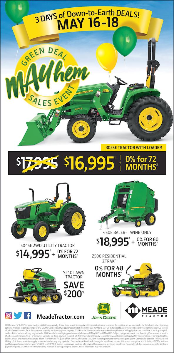 Meade Tractor Mayhem Sales Event